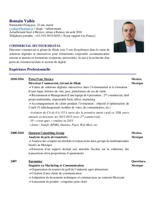 cv romain commercial secteur digital