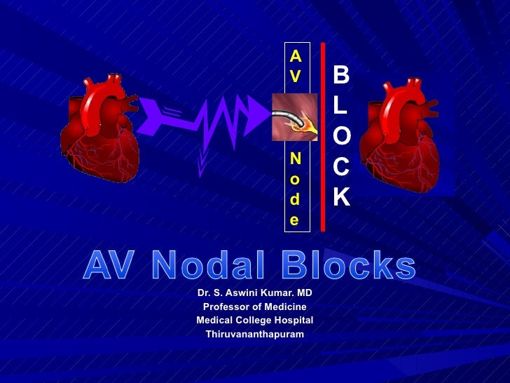 Dr. S. Aswini Kumar. MD Professor of Medicine Medical College Hospital Thiruvananthapuram A V N o d e BLOCK