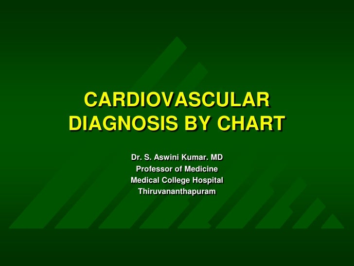 CARDIOVASCULAR DIAGNOSIS BY CHART<br />Dr. S. Aswini Kumar. MD<br />Professor of Medicine<br />Medical College Hospital<br...