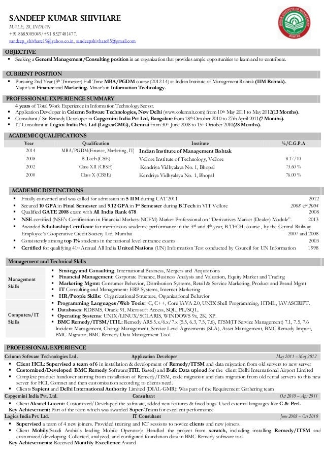 Sample Consulting Resume  Resume For Consulting