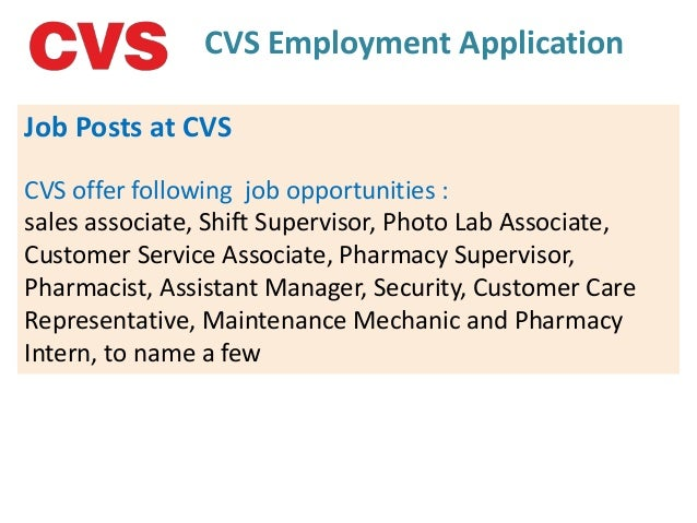 cvs employment application