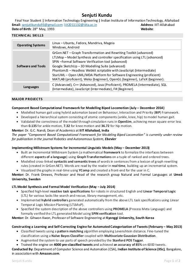 Senjuti Kundu - Resume