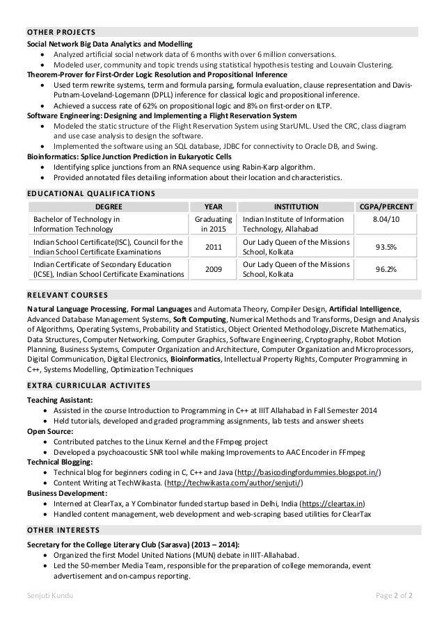 Senjuti Kundu Resume
