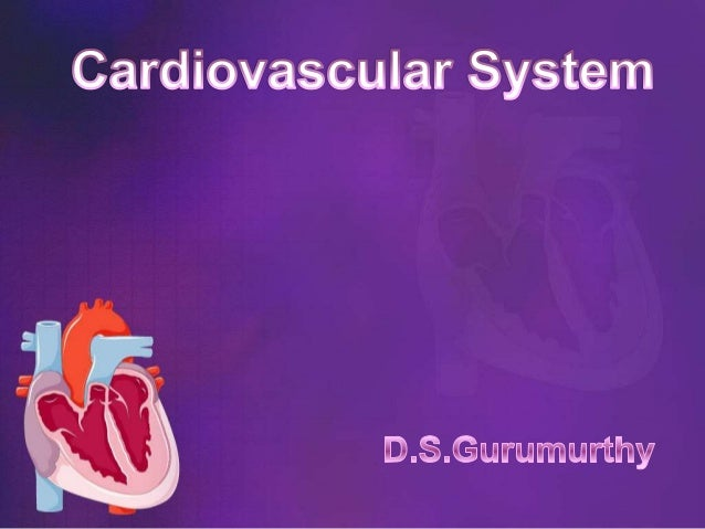 • The cardiovascular system is dividedfor descriptive purposes into two mainparts :-• The circulatory system :