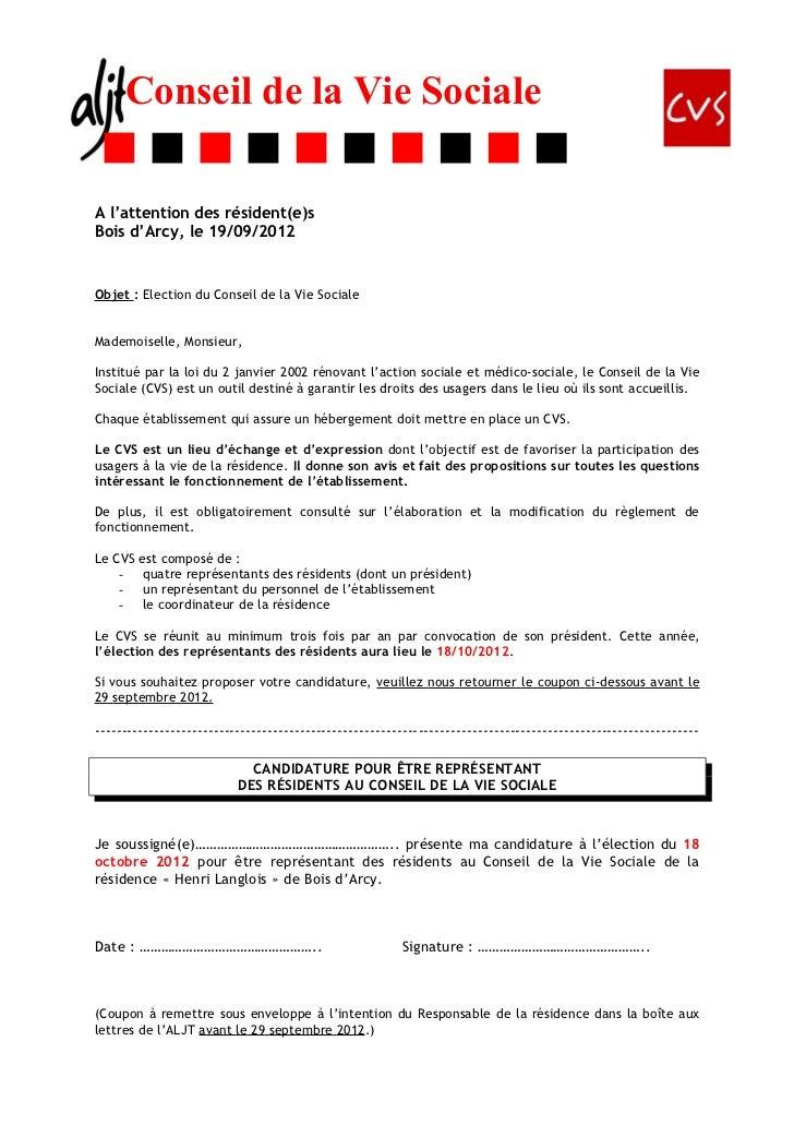 cvs lettre information