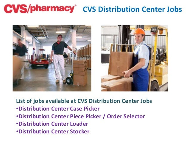 cvs pharmacy distribution center jobs