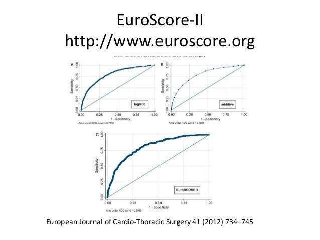 EuroScore-II http://www.euroscore.org European Journal of Cardio-Thoracic Surgery 41 (2012) 734–745