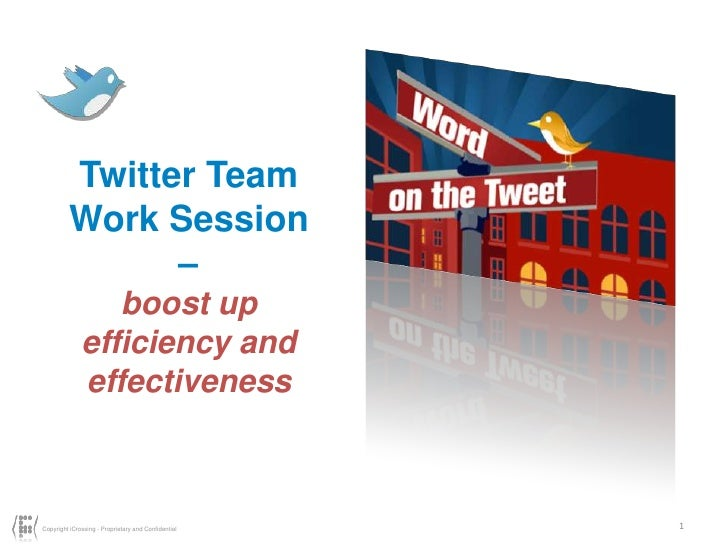 1<br />Twitter Team<br />Work Session –<br />boost up efficiency and effectiveness<br />