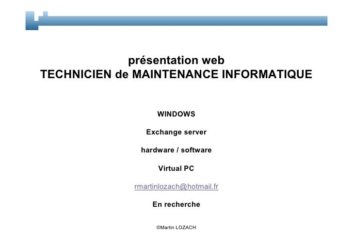 cv technicien de maintenance martin