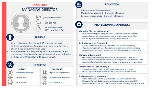 Cv Template Powerpoint