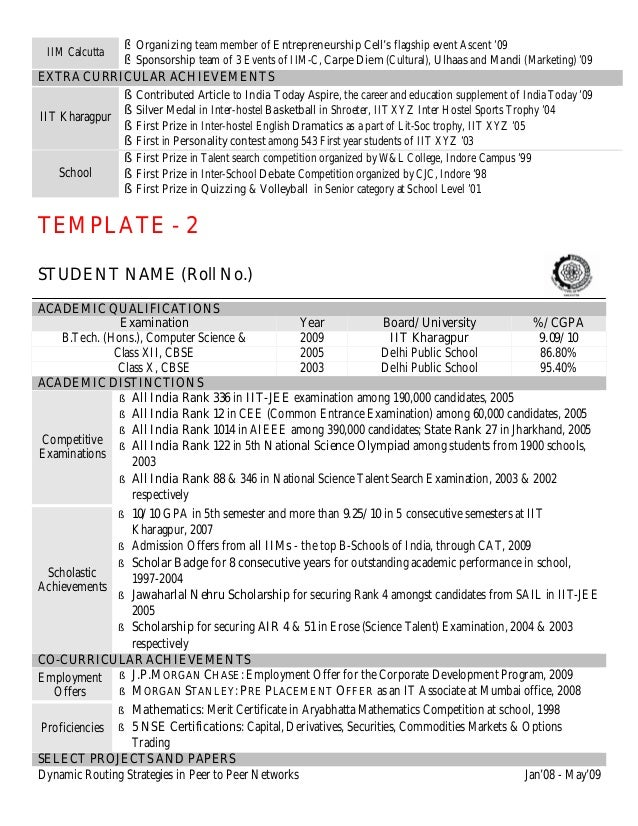science resume template - Roho.4senses.co