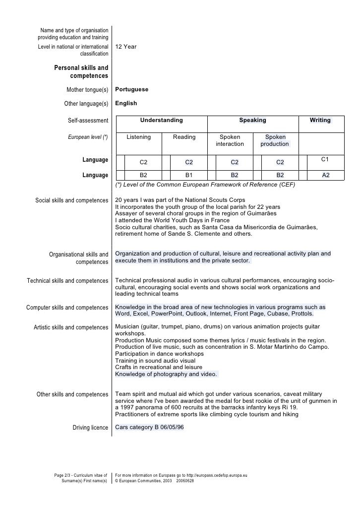 Cute Resume Language Skills Intermediate Images - Example Business ...