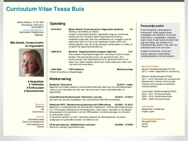 CV Tessa Buis