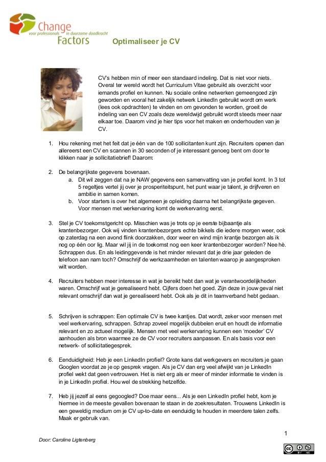 Cv tips voor meer aandacht tijdens een sollicitatie
