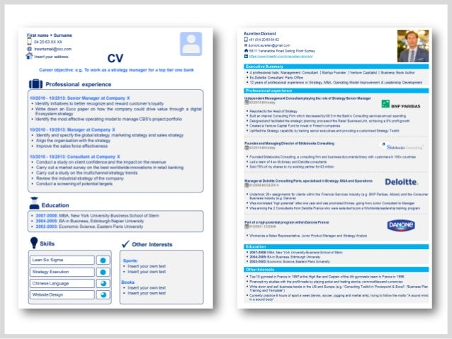 Professional Cv Template  Resume Template In Powerpoint