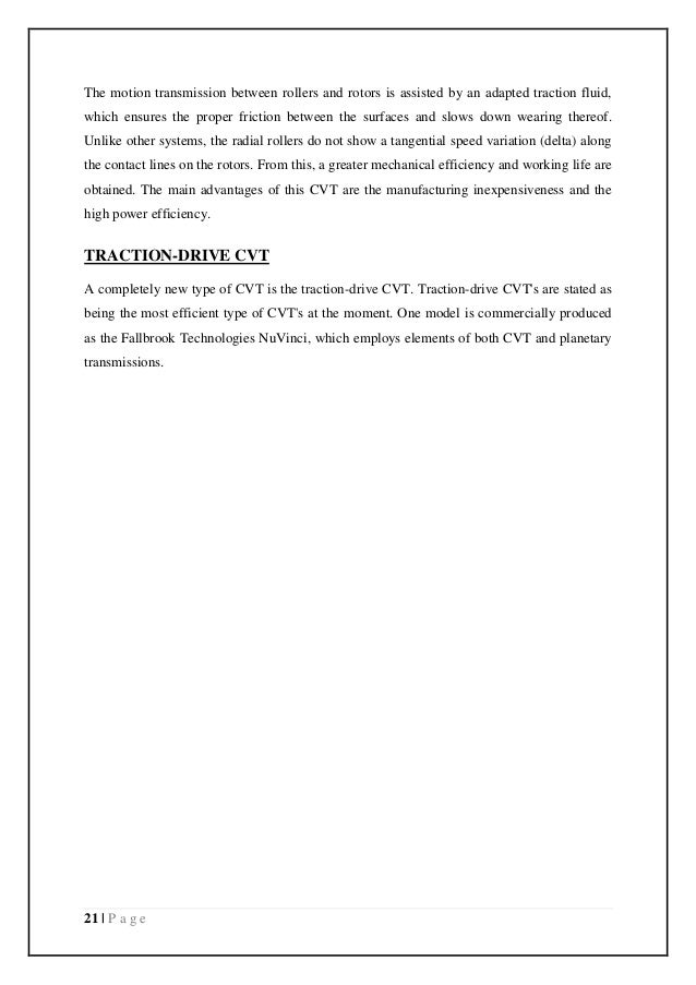 Cvt report