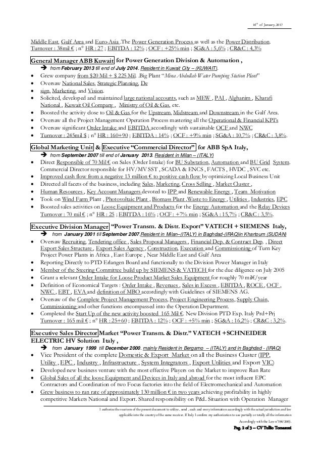 cv tullio tomasoni english extreme resume kpi u0026 39 s financial january 2017