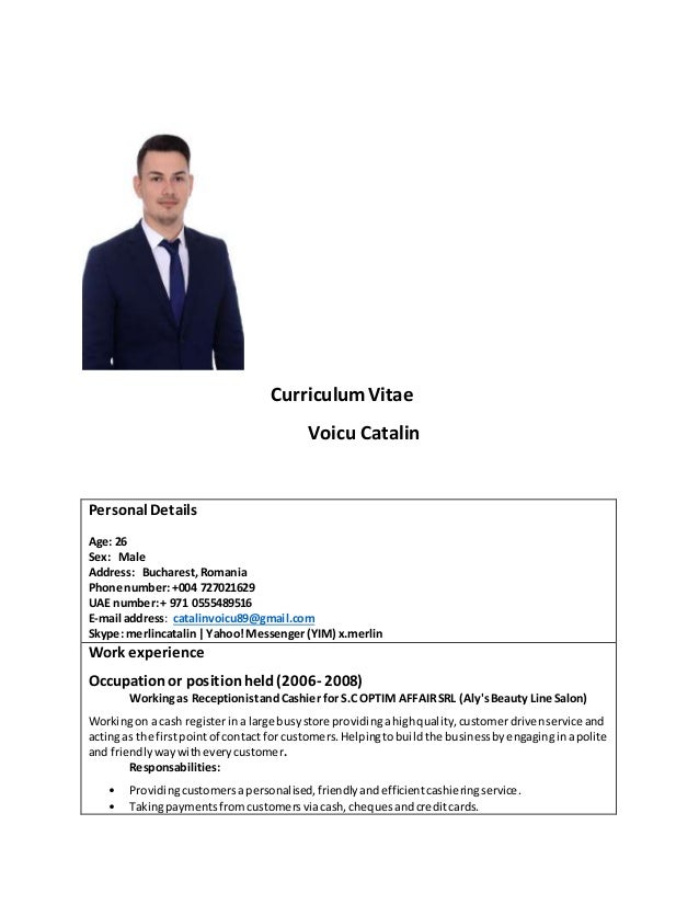 cv voicu catalin   search for barber hairdresser or receptionist