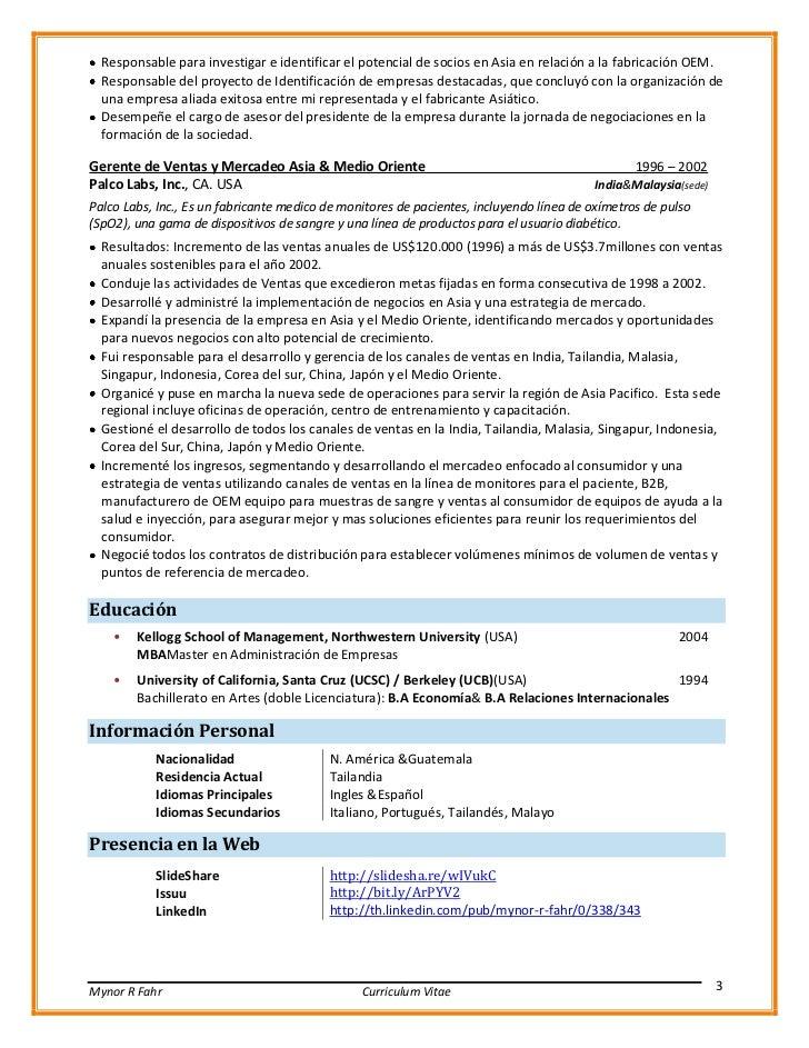 CV VP internacional ventas gerente de desarrollo de marcados v0512 esp