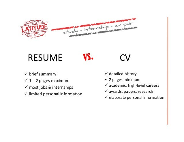 cv vs resume how to write a resume