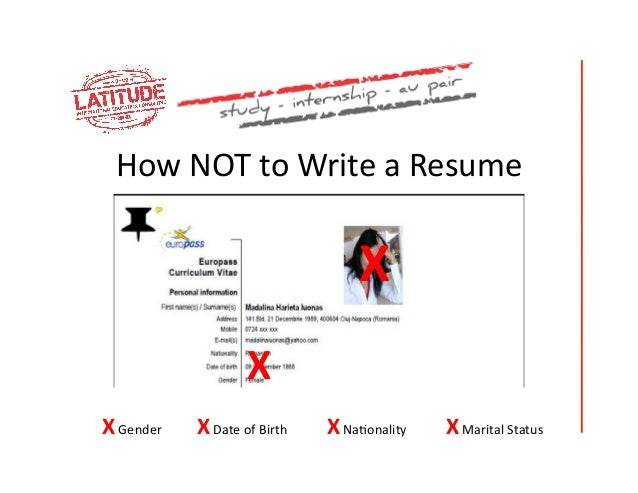 How NOT To Write A Resume ...