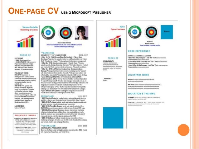 cv workshop form the future