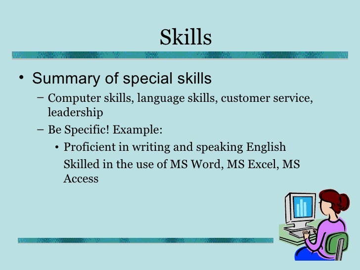 other skills and qualifications examples