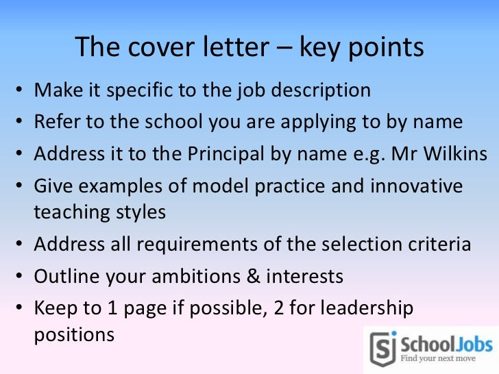 Can You Outline Key Selection Critetia In Cover Letter