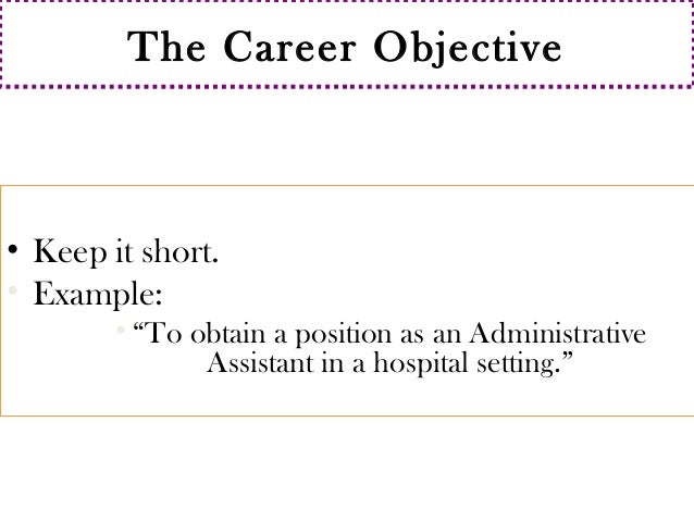 short objective for resume 20 resume objective examples use them