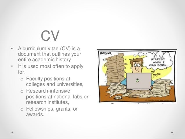 Cv Vs Resume Writing Presentation 11-19-2015