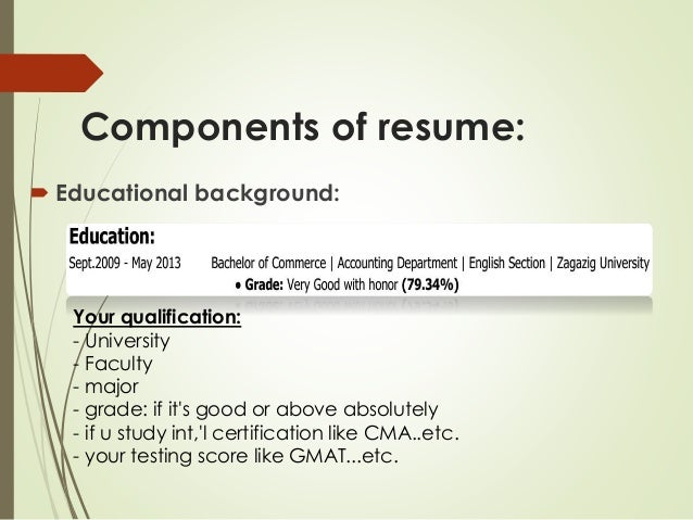good components resume