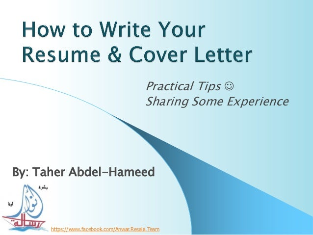 Practical Tips                                          Sharing Some ExperienceBy: Taher Abdel-Hameed     https://www.fac...
