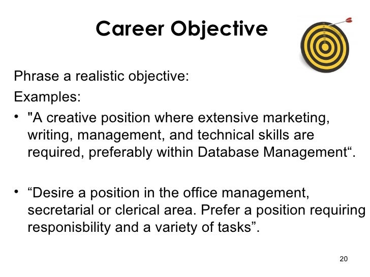writing career objectives examples Mba career goals essay sample professional objectives from a sample essay to illustrate lessons that you can apply when writing your own career goals.