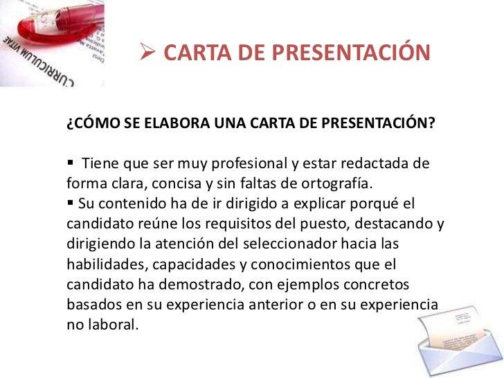 Cv Y Carta De Presentacion
