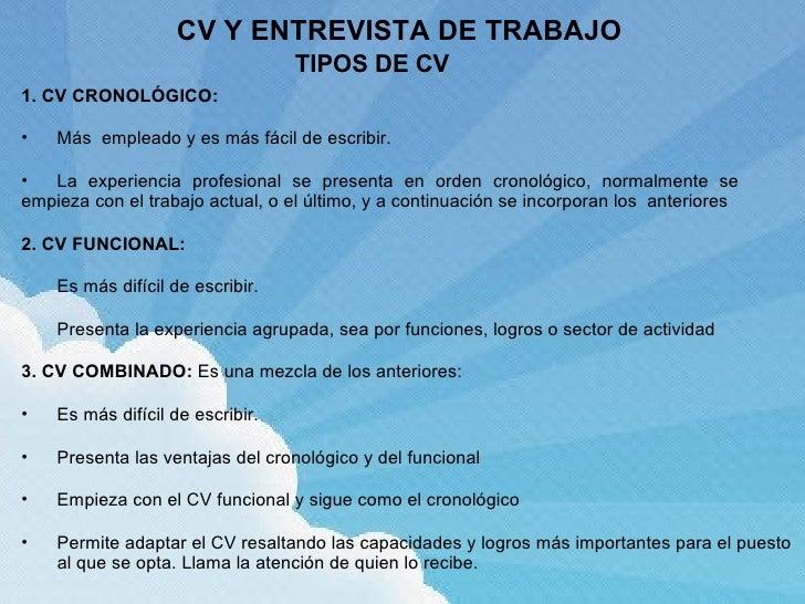 Cv y entrevista de trabajo antonio