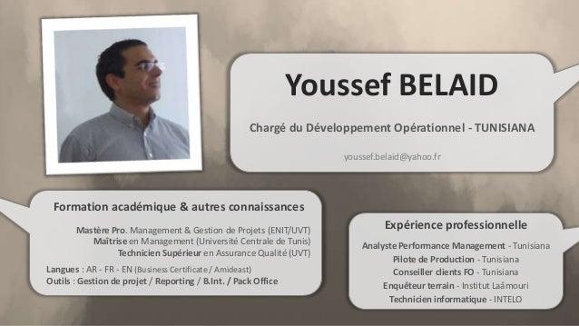 cv youssef belaid