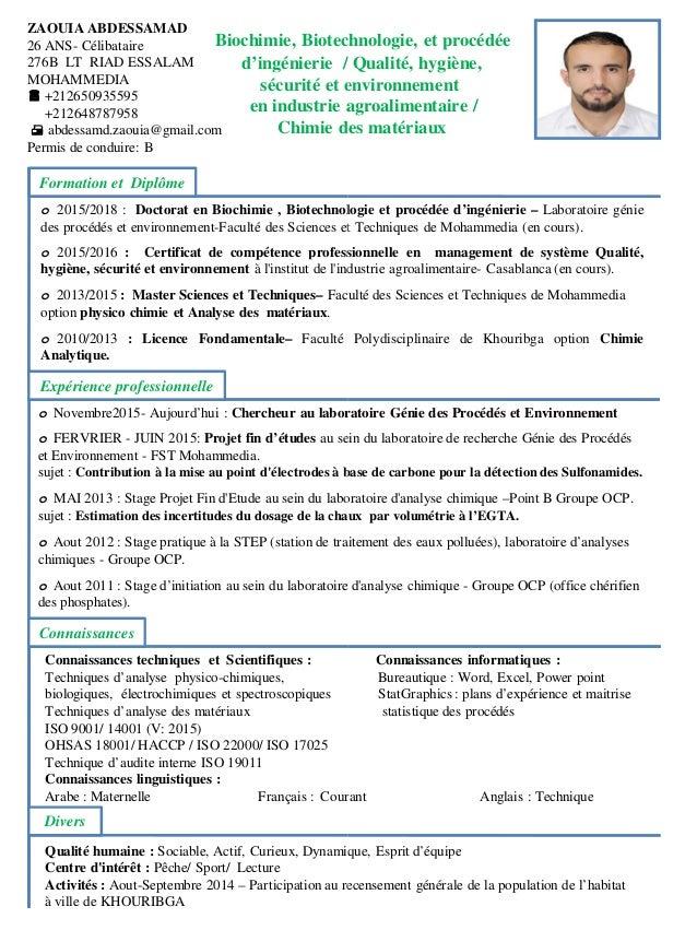 cv zaouia doc pdf
