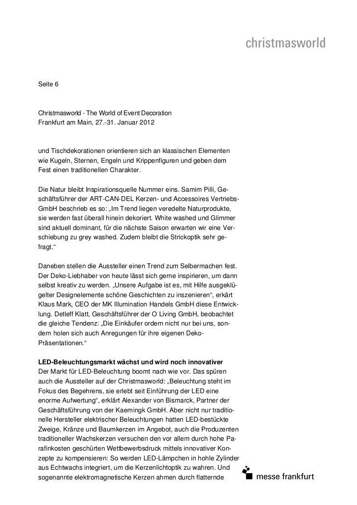 Seite 6Christmasworld - The World of Event DecorationFrankfurt am Main, 27.-31. Januar 2012und Tischdekorationen orientier...