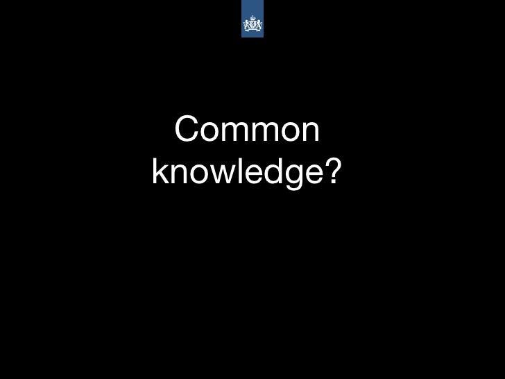 Common knowledge?