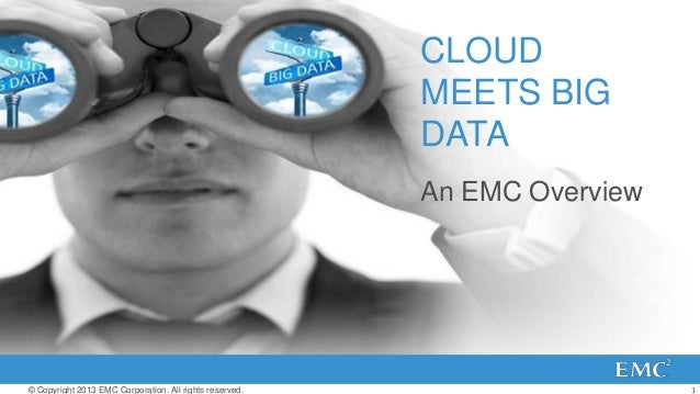 1© Copyright 2013 EMC Corporation. All rights reserved.CLOUDMEETS BIGDATAAn EMC Overview
