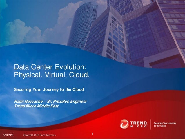 Securing Your Journey to the CloudRami Naccache – Sr. Presales EngineerTrend Micro Middle EastData Center Evolution:Physic...
