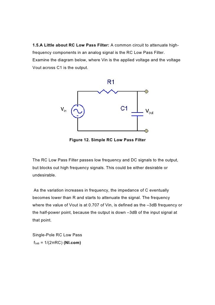 rclowpassfilter the above circuit diagram illustrates a simple rc