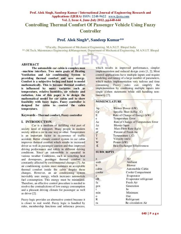 Prof. Alok Singh, Sandeep Kumar / International Journal of Engineering Research and                      Applications (IJE...