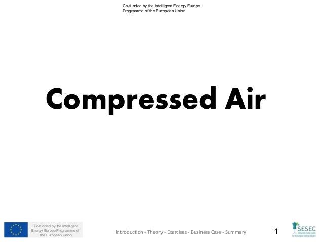 SESEC Training Module 3: Compressed Air