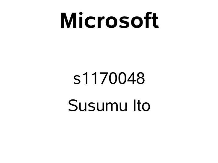Microsoft s1170048Susumu Ito
