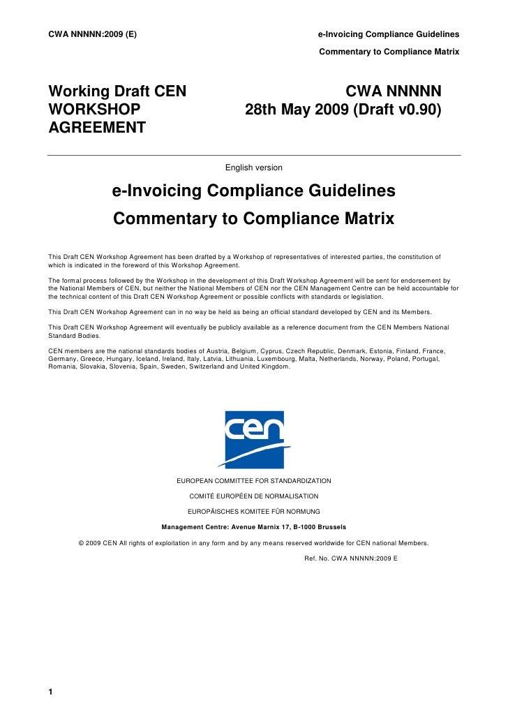 CWA NNNNN:2009 (E)                                                                    e-Invoicing Compliance Guidelines   ...