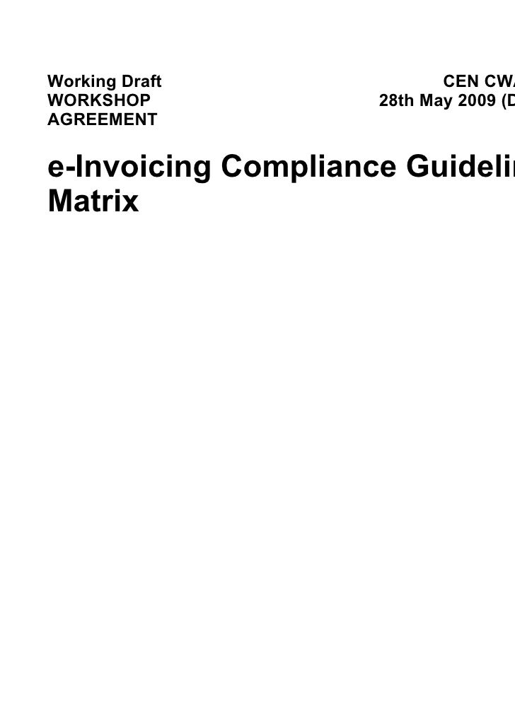 Cwa2b Draft E Invoicing Compliance Guidelines V0.90 B