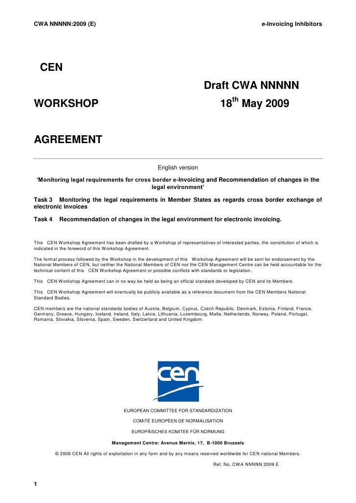 CWA NNNNN:2009 (E)                                                                                     e-Invoicing Inhibit...
