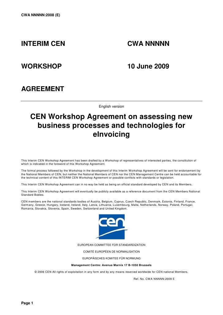 CWA NNNNN:2008 (E)     INTERIM CEN                                                                  CWA NNNNN   WORKSHOP  ...