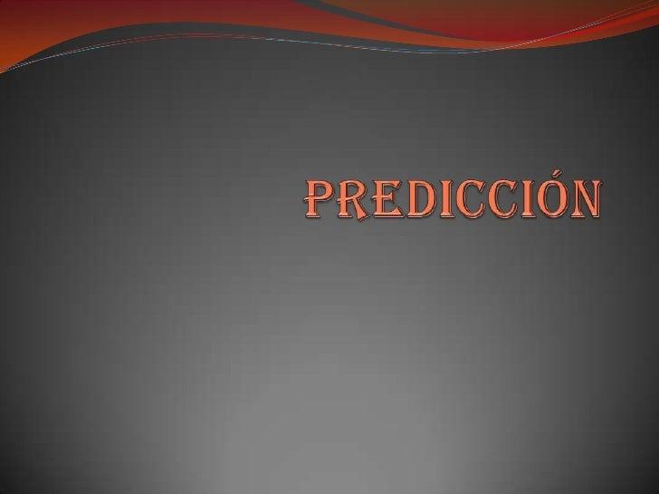 predicción<br />